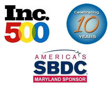 Inc 500, Celebrating 10 Years, and America's SBDC Maryland Sponsor